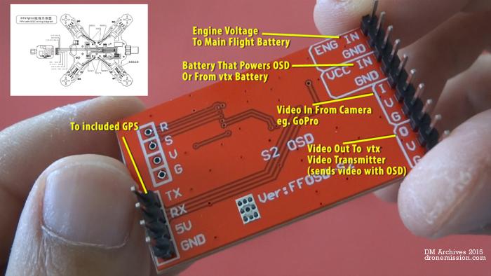 Tarot OSD video overlay system GPS TL300L Tarot 250 and Review